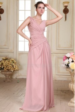 Long Pink Chiffon Prom Evening Formal Party Dresses ED010081