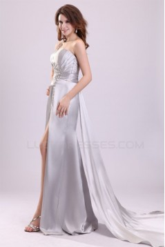 Sheath One-Shoulder Beaded Long Prom Evening Formal Party Dresses ED010088
