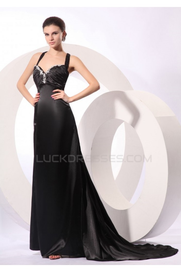 Long Black Prom Evening Formal Party Dresses ED010098