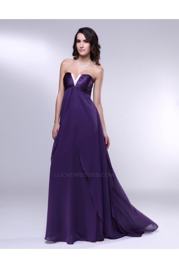 Empire Strapless Long Purple Prom Evening Formal Dresses Maternity Dresses ED011010