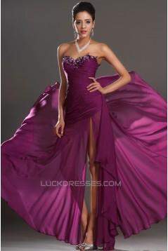 Sheath Sweetheart Beaded Long Chiffon Prom Evening Formal Dresses ED011026