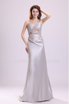 One-Shoulder Long Beaded Prom Evening Formal Party Dresses ED010103