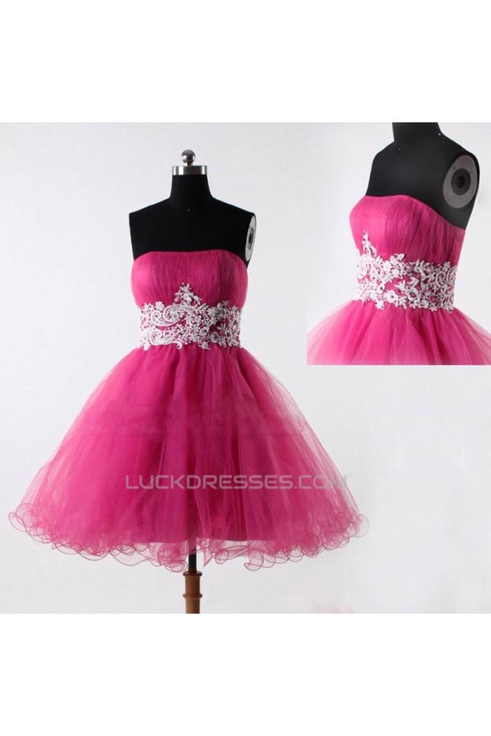 Short/Mini Strapless Tulle Prom Evening Formal Cocktail Dresses ED011055