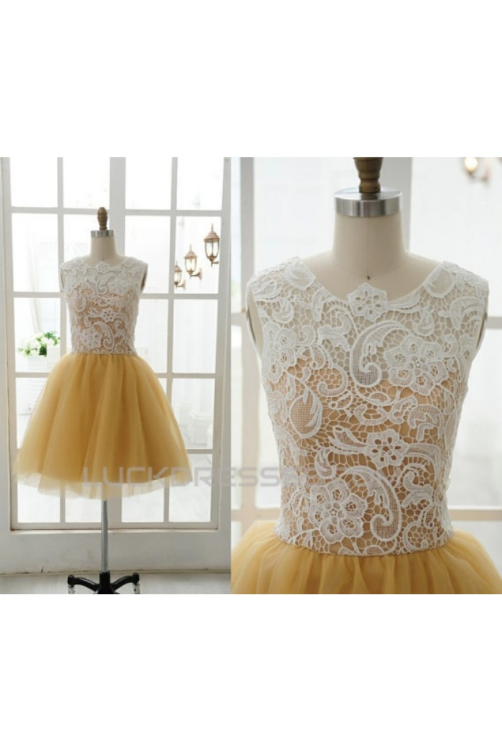 Short/Mini Black Yellow Prom Evening Formal Cocktail Dresses ED011066