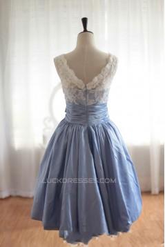 A-Line Bateau Short Knee-Length Prom Evening Formal Dresses ED011069