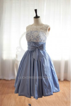 A-Line Bateau Short Knee-Length Prom Evening Formal Dresses ED011069