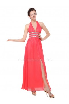 Long Halter Chiffon Prom Evening Formal Party Dresses ED010108