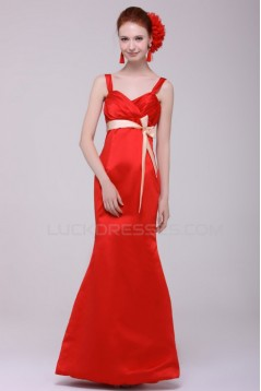 Trumpet/Mermaid Long Red Prom Evening Formal Party Dresses ED010110