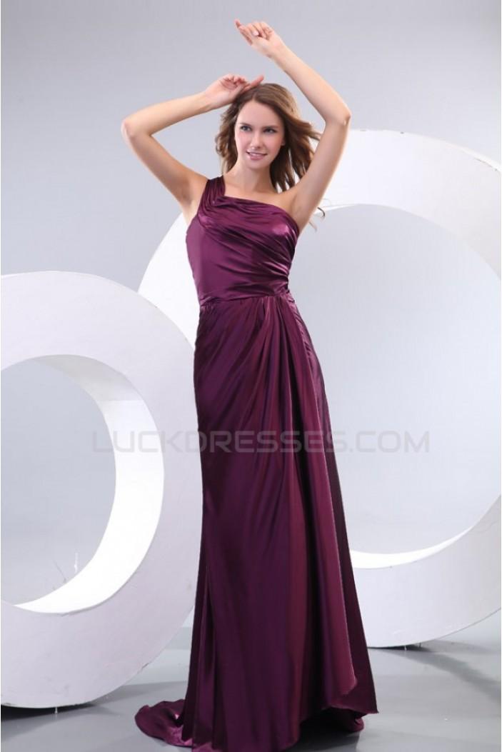 Sheath/Column One-Shoulder Long Prom Evening Formal Party Dresses ED010111