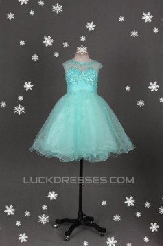 A-Line Beaded Short Blue Prom Evening Cocktail Homecoming Dresses ED011118