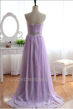 A-Line Sweetheart Beaded Long Chiffon Prom Evening Formal Dresses ED011140