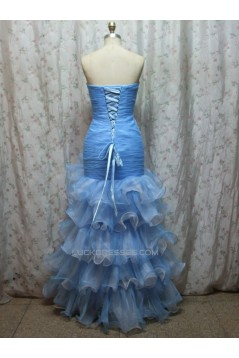 Trumpet/Mermaid Sweetheart Beaded Long Prom Evening Formal Dresses ED011145
