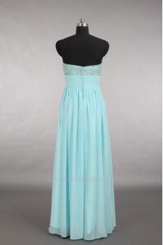 A-Line Sweetheart Beaded Long Chiffon Prom Evening Formal Dresses ED011153