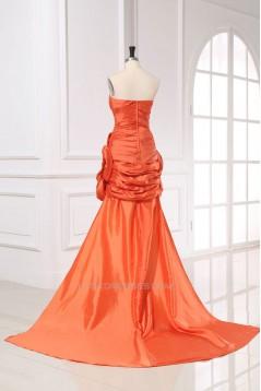 Trumpet/Mermaid Strapless Beaded Long Prom Evening Formal Dresses ED011163
