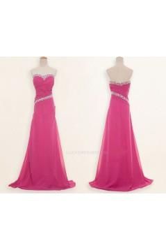 A-Line Sweetheart Beaded Long Chiffon Prom Evening Formal Dresses ED011183