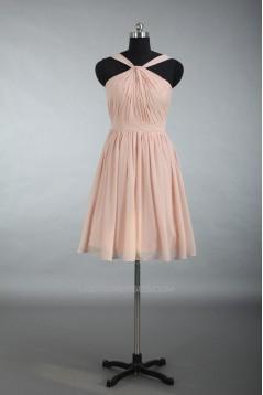 A-Line Short Chiffon Prom Evening Bridesmaid Dresses ED011186