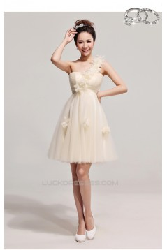 A-Line One-Shoulder Short Prom Evening Formal Dresses ED011201