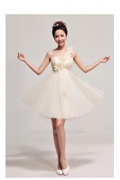 A-Line One-Shoulder Short Prom Evening Formal Dresses ED011201