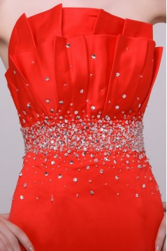 Trumpet/Mermaid Beaded Long Prom Evening Formal Party Dresses ED010121