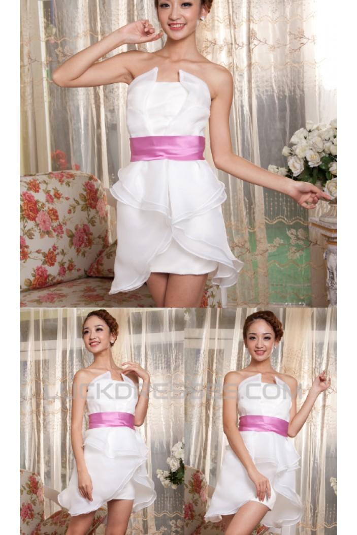 Short/Mini White Chiffon Prom Evening Formal Dresses ED011216