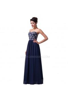 Elegant Beaded Long Chiffon Prom Evening Formal Party Dresses ED010122