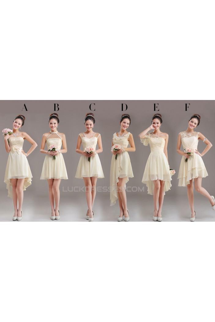 A-Line Short Chiffon Prom Evening Bridesmaid Dresses ED011231