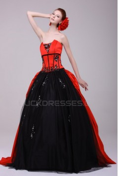 Ball Gown Strapless Long Prom Evening Formal Party Dresses ED010124