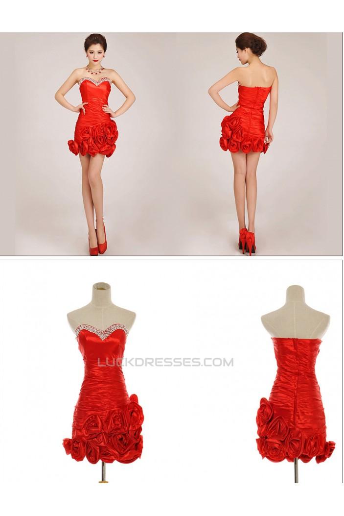 Short/Mini Sweetheart Beaded Prom Evening Formal Dresses ED011259