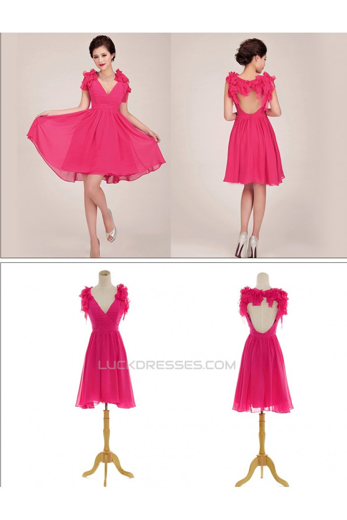 A-Line Short Chiffon Prom Evening Formal Dresses ED011260