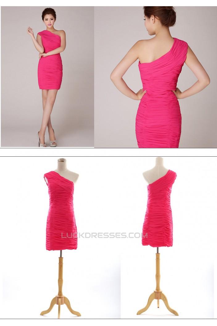 Short/Mini One-Shoulder Chiffon Prom Evening Formal Dresses ED011265