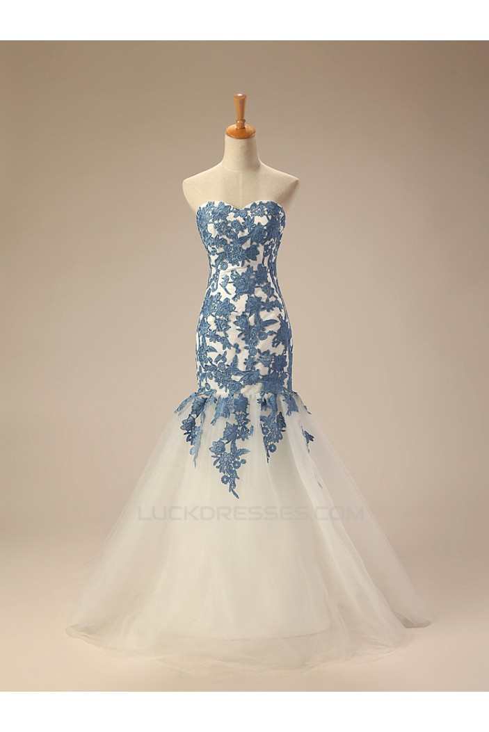 Trumpet/Mermaid Sweetheart Long Prom Evening Formal Dresses ED011283