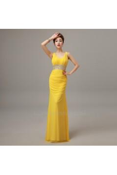 Trumpet/Mermaid Beaded Long Prom Evening Formal Dresses ED011295