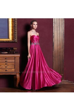 A-Line Sweetheart Beaded Long Prom Evening Formal Dresses ED011338