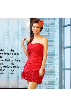 Short/Mini Sweetheart Red Prom Evening Formal Dresses ED011339