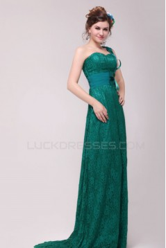 One-Shoulder Long Lace Prom Evening Formal Party Dresses ED010134