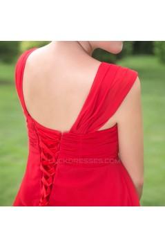 Empire Straps Sleeveless Beaded Short Chiffon Prom Evening Maternity Dresses ED011366
