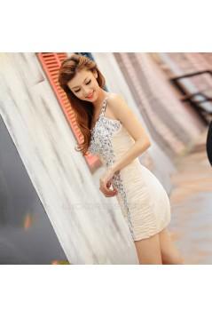 Short/Mini Beaded One-Shoulder Prom Evening Formal Dresses ED011376