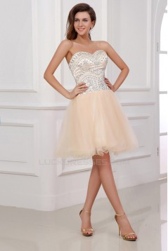 A-Line Sweetheart Beaded Short Prom Evening Cocktail Dresses ED011387