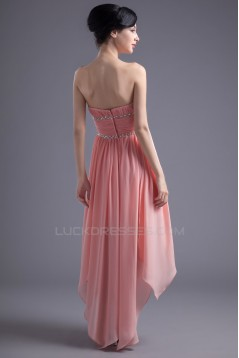High Low Strapless Short Beaded Prom Evening Bridesmaid Dresses ED011388