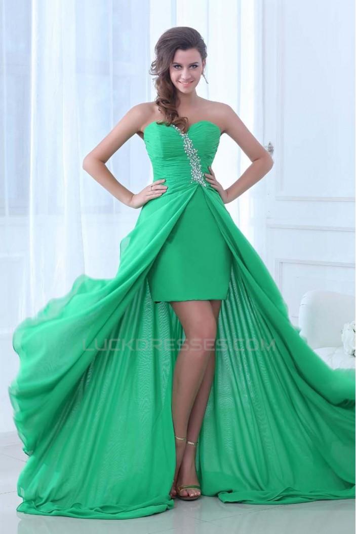Beaded Sweetheart Chiffon Prom Evening Formal Dresses ED011395