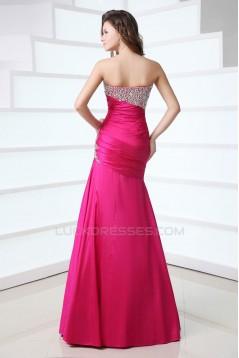 Trumpet/Mermaid Beaded Long Prom Evening Formal Dresses ED011396