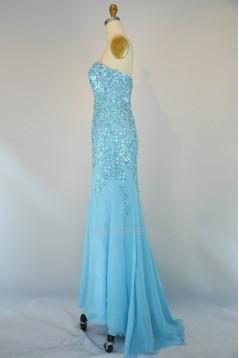 Beaded Long Chiffon Prom Evening Formal Dresses ED011404