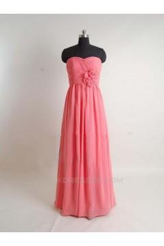 Sheath/Column Long Chiffon Prom Evening Formal Bridesmaid Dresses ED011408