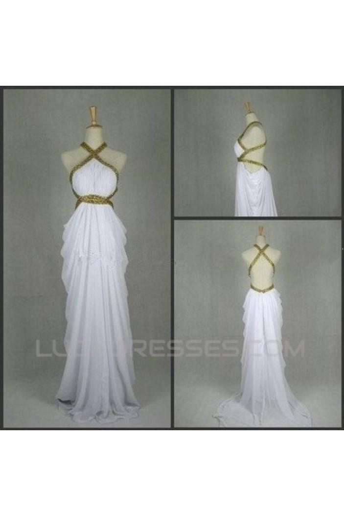 Sheath/Column Beaded Long Chiffon Prom Evening Formal Dresses ED011410