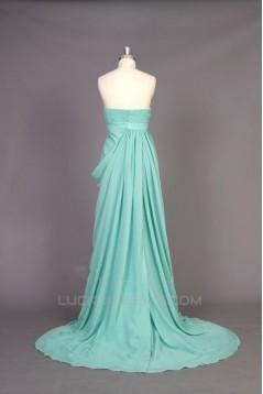 Empire Sweetheart Long Chiffon Prom Evening Formal Maternity Evening Dresses ED011417
