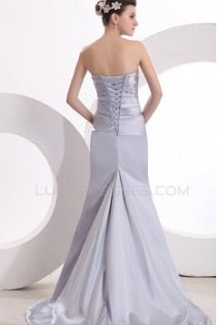 Trumpet/Mermaid Strapless Long Prom Evening Formal Party Dresses ED010142
