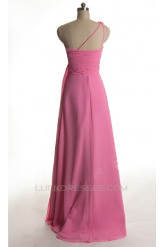 A-Line One-Shoulder Long Chiffon Prom Evening Formal Dresses ED011424