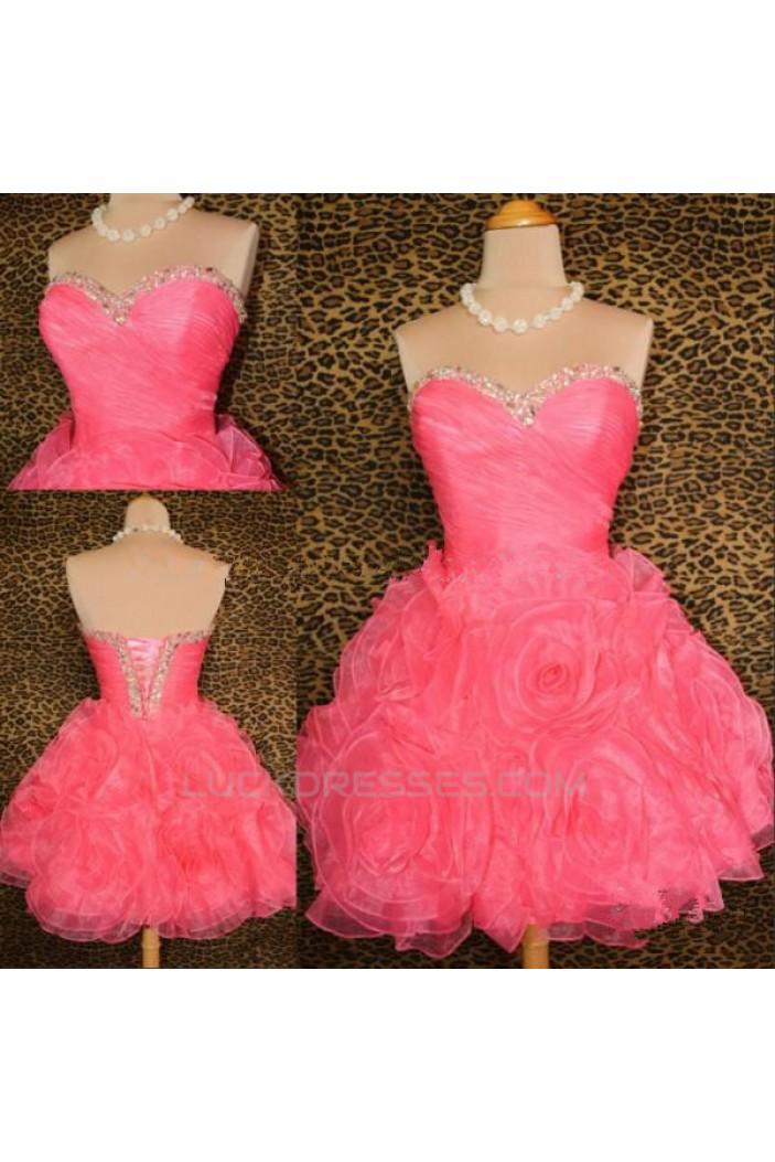 Short/Mini Sweetheart Beaded Prom Evening Formal Dresses ED011428