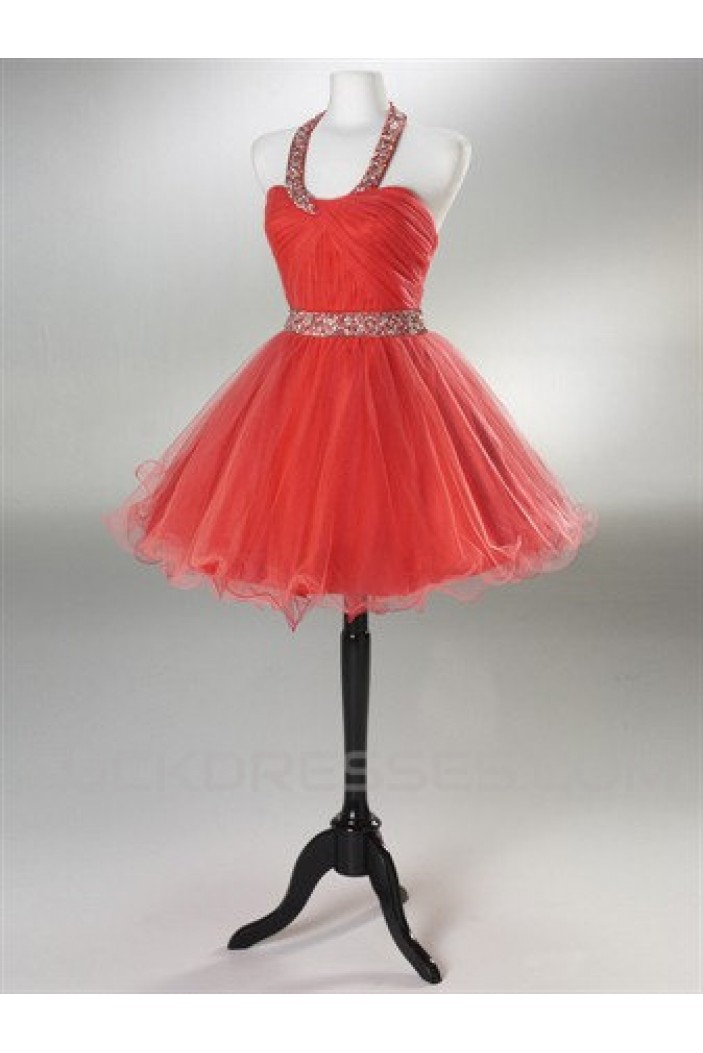 Short/Mini Halter Beaded Prom Evening Cocktail Dresses ED011430