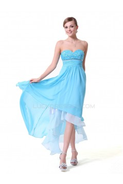High Low Sweetheart Short Blue Prom Evening Formal Party Dresses ED010144